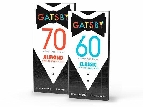two gatsby chocolate bars